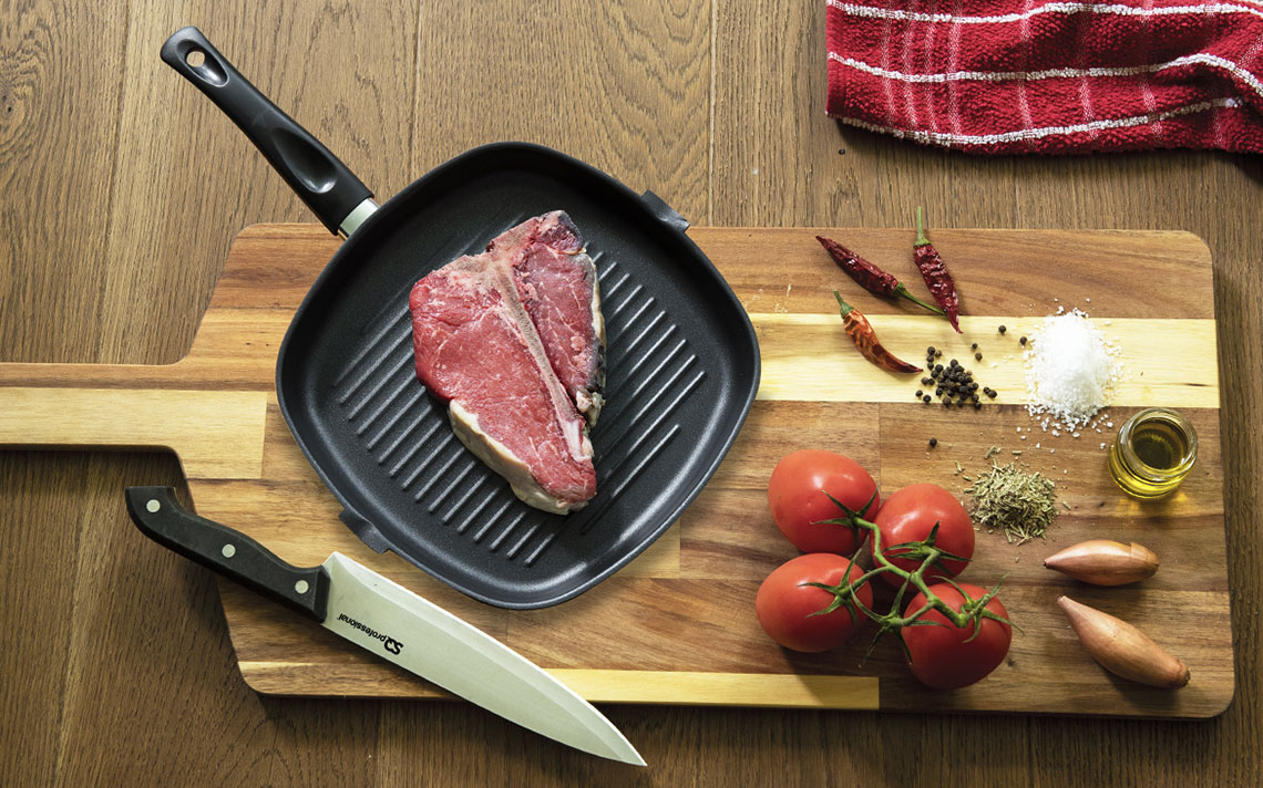 Ultimate Carbon Steel nonstick Square Grill Pan - 1