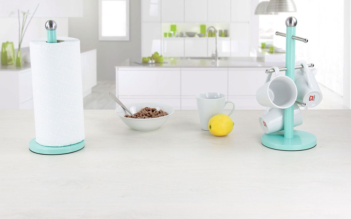Dainty Kitchen Roll Holder /& Mug Tree In 3 Different Colours Available