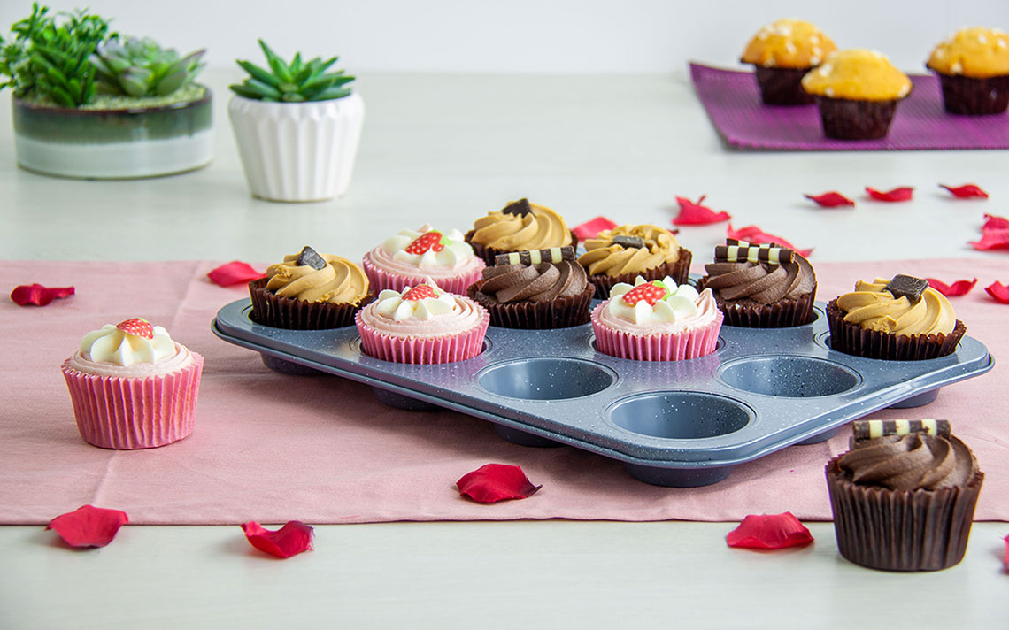 Speckled Bakeware - Muffin Tray 12 cup - 1