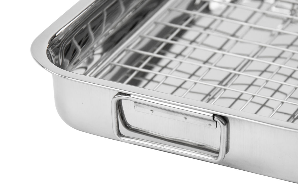 Lustro Roasting Tin with Rack - 2
