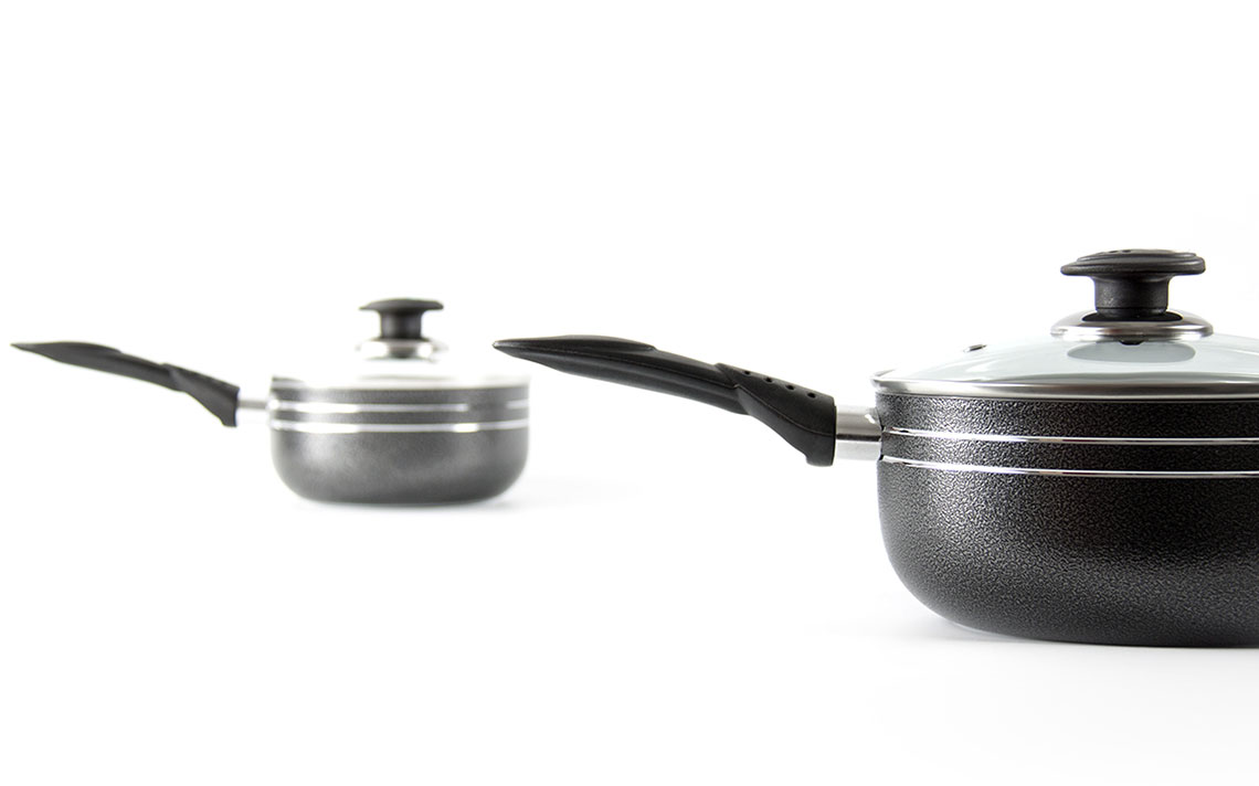 una nonstick 3pc saucepan set - 2