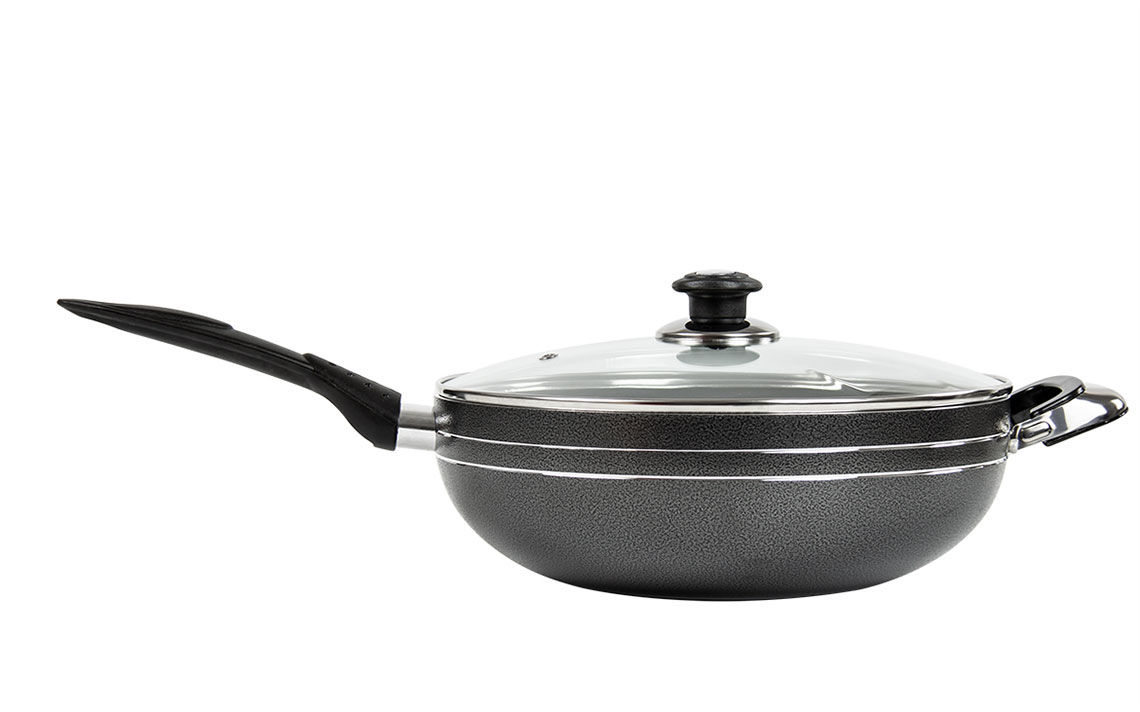 una nonstick Long handle Wok - 2