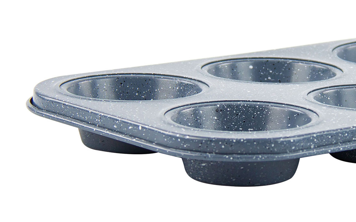 Speckled Bakeware - Muffin Tray 6 cup - 2