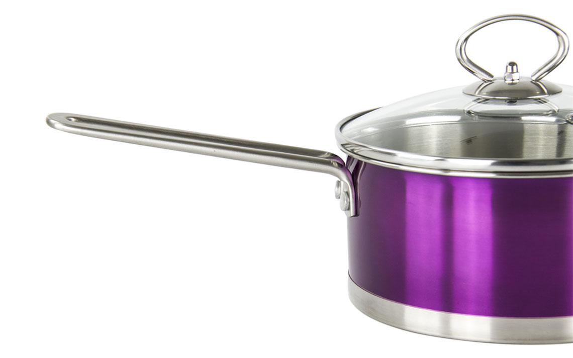 Gems Metallic Saucepan Sets - 3
