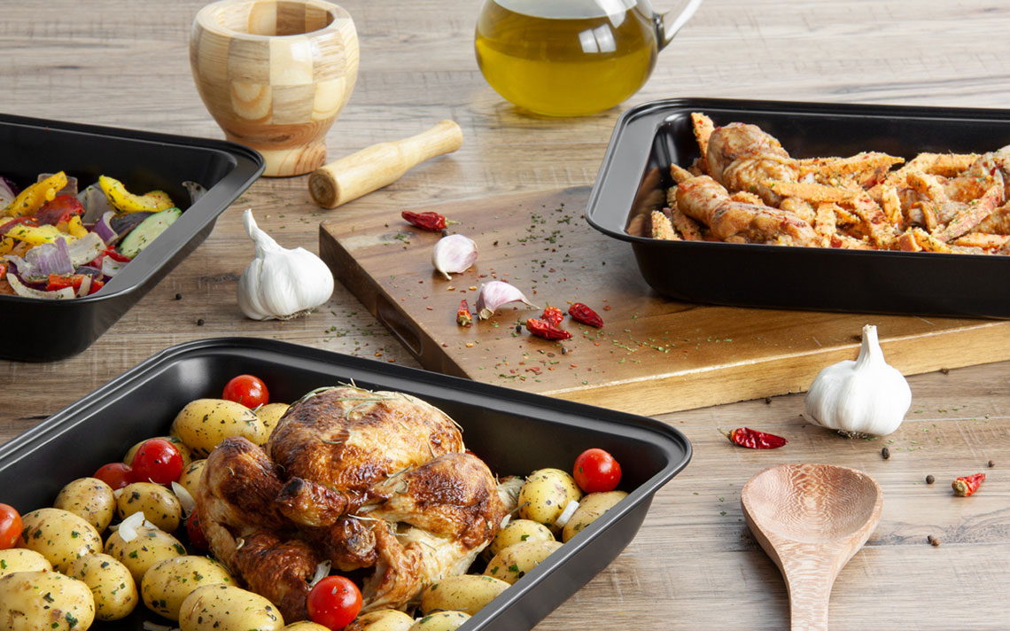Black Bakeware - Roasting Tray Set - 1