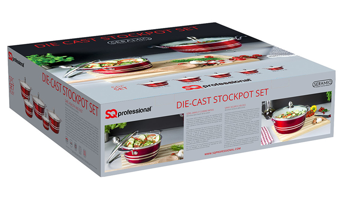 Metallic Die-Cast 5pc stockpot set - Box