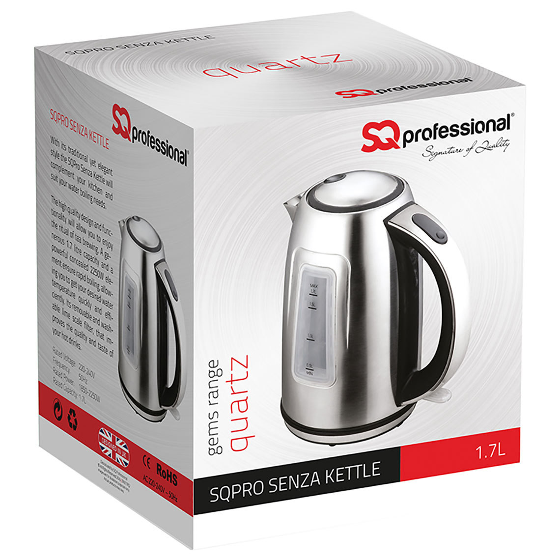 Sq Professional - Gems Range - Senza Kettle box