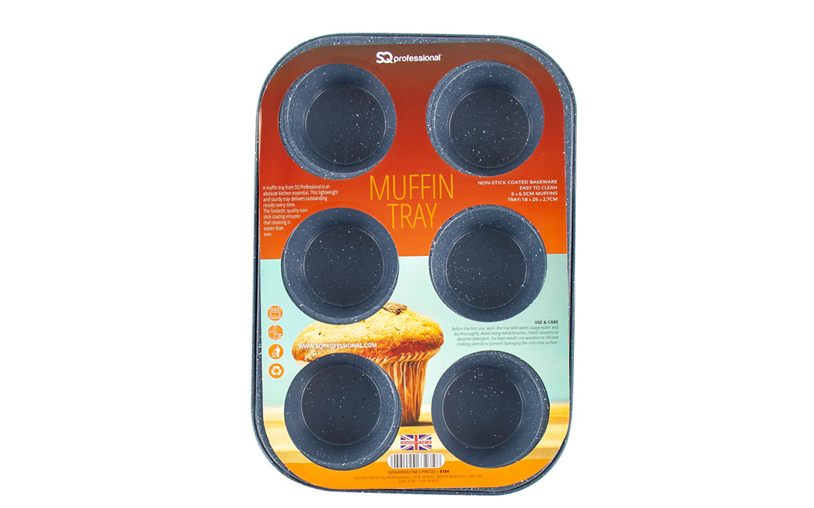 Sq Professional - Speckled Bakeware - Muffin Tray 6 cup