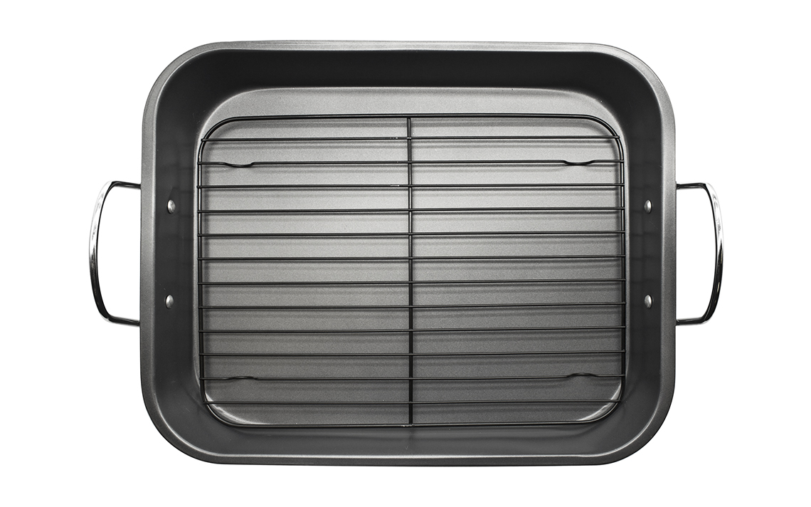 Sq Professional - Black Bakeware - Roasting Tray with Grill