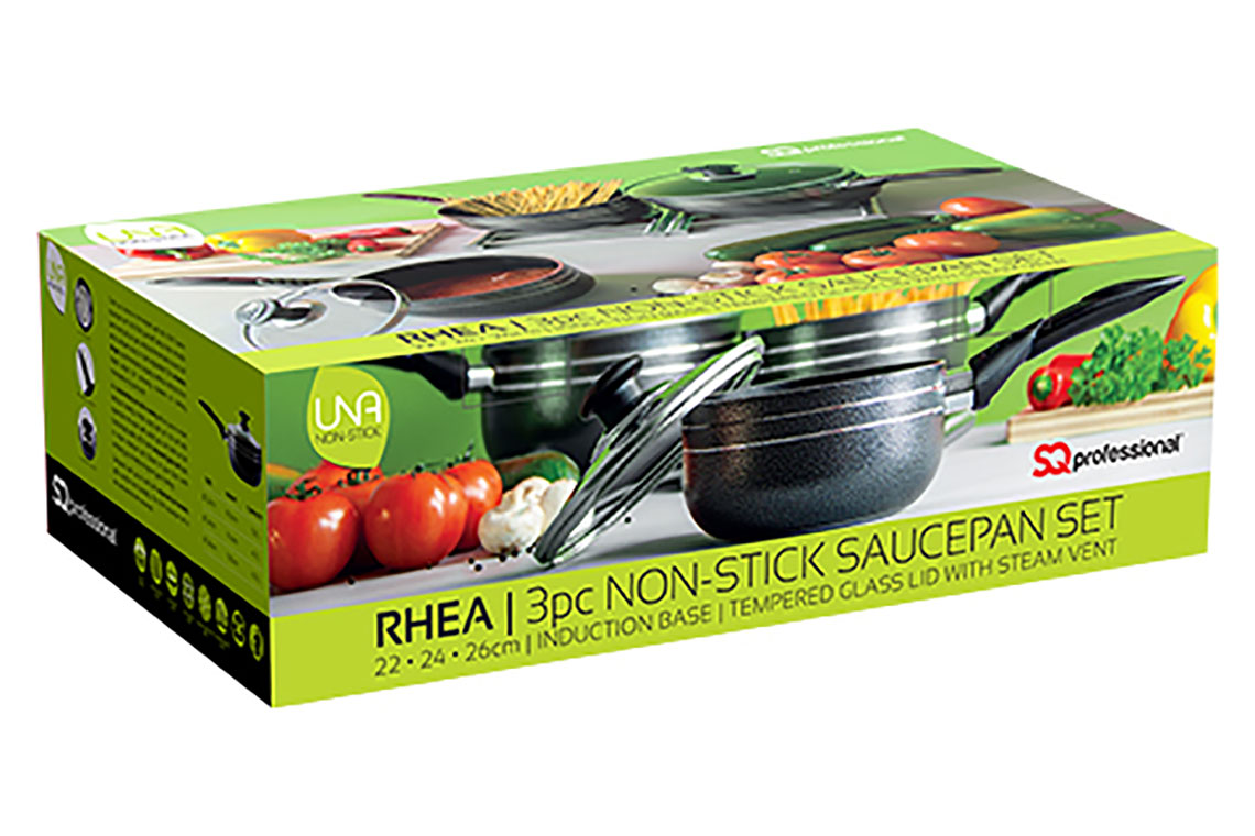 Sq Professional - Una non stick - 3pc Saucepan Set