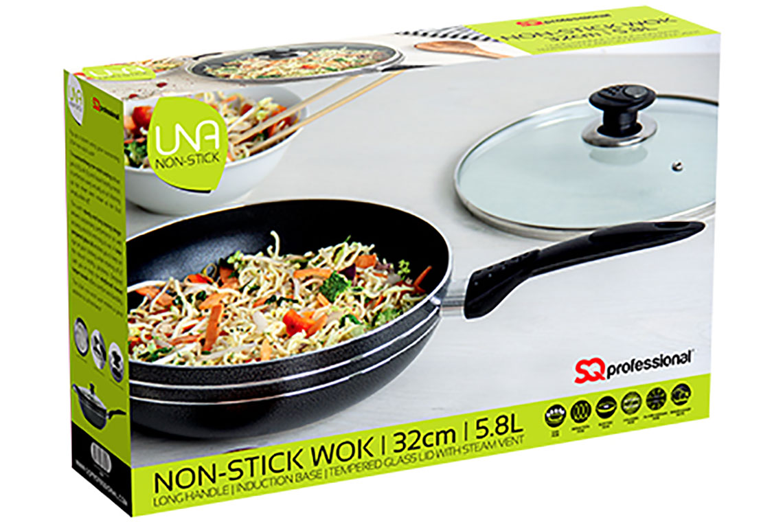 Sq Professional - Una non stick - Long handle Wok