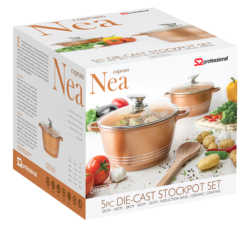 Nea Seramiq 5pc stockpot set colour - Box