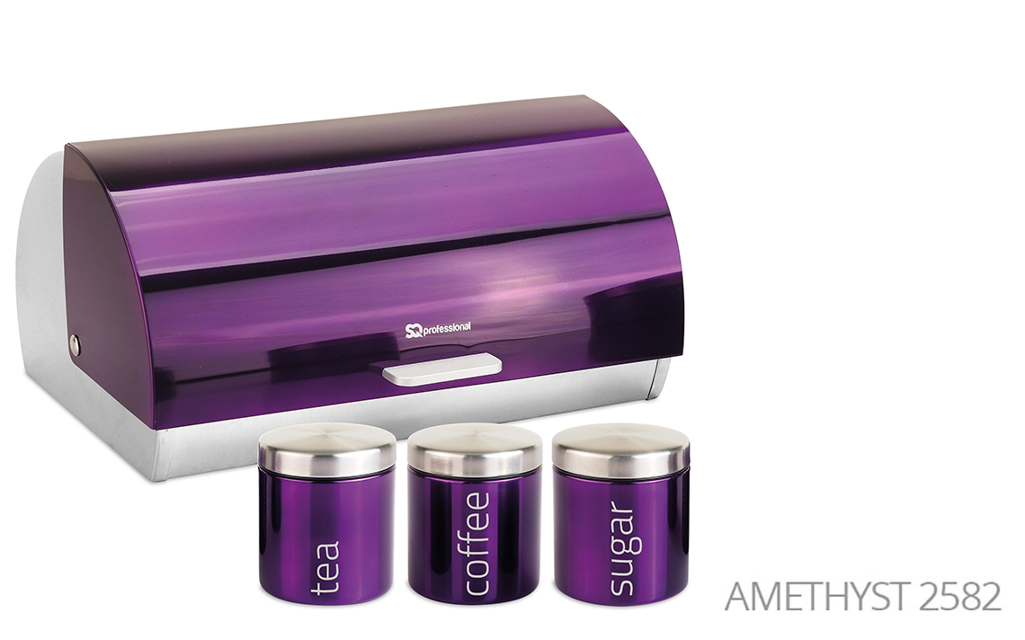 Sq Professional -  Gems Range - Bread Bin & Canisters Set colour 4