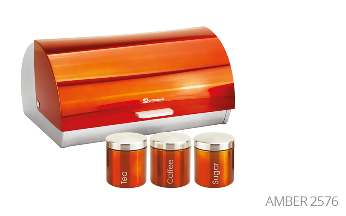 Sq Professional -  Gems Range - Bread Bin & Canisters Set colour 7