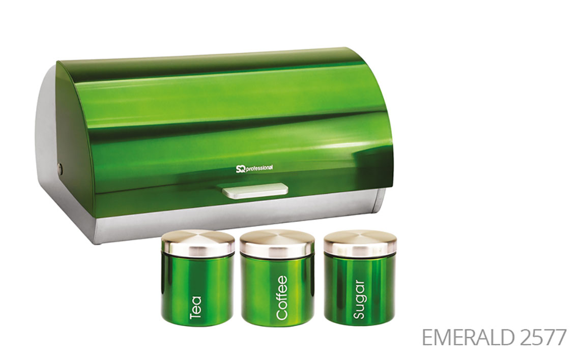 Sq Professional -  Gems Range - Bread Bin & Canisters Set colour 6