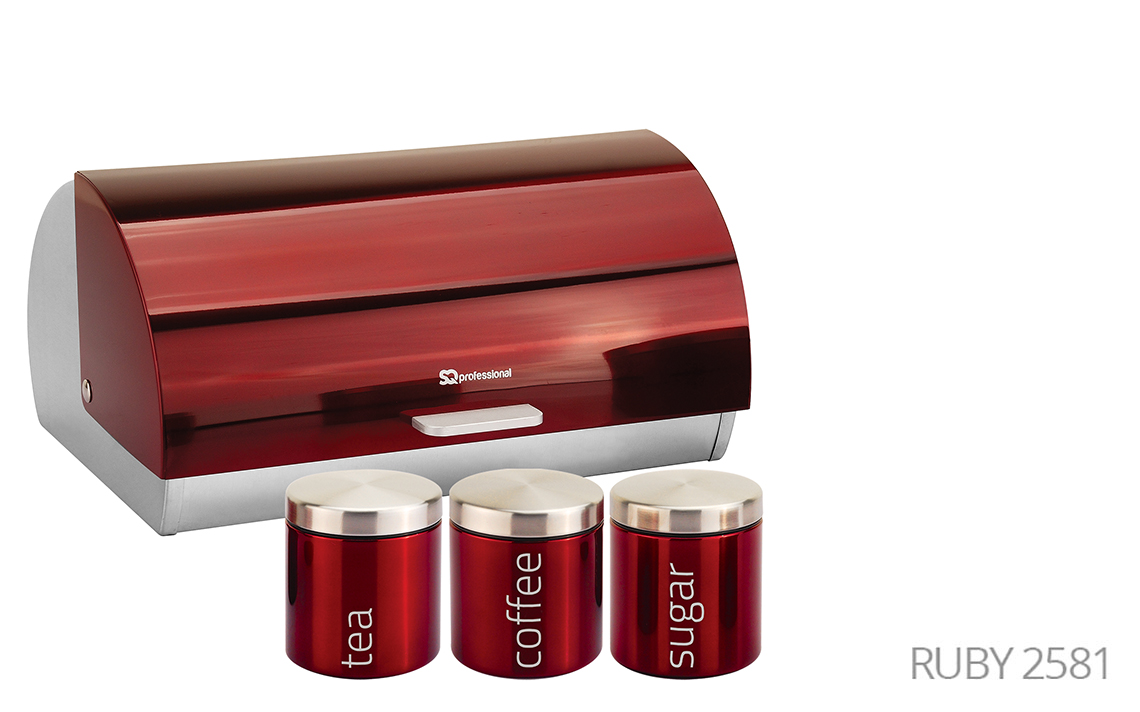 Sq Professional -  Gems Range - Bread Bin & Canisters Set colour 3