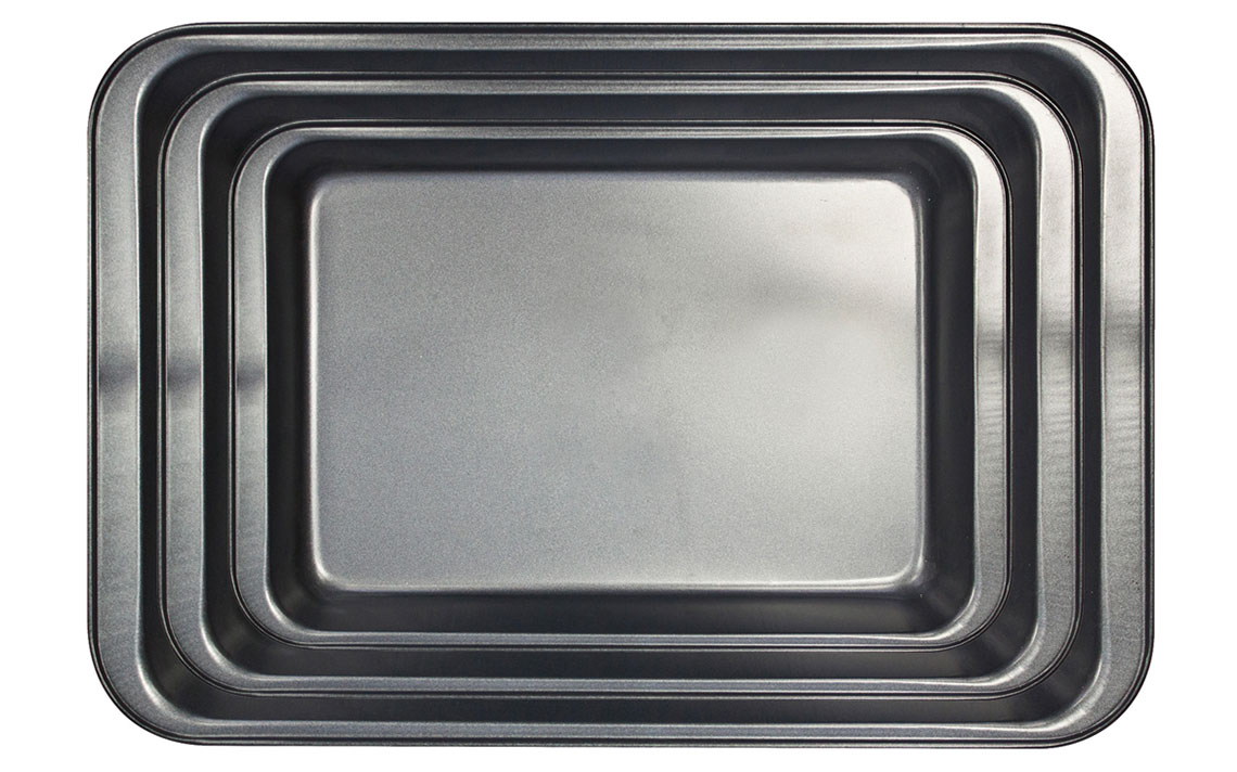 Sq Professional - Black Bakeware - Roasting Tray Set