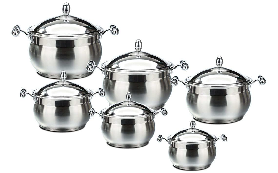 Sq Professional - lustro apple shape stockpot set Strain and Pour