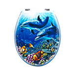 Sq Professional TOILET SEAT DOLPHINS