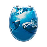 Sq Professional TOILET SEAT SMILING DOLPHINS