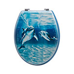 Sq Professional TOILET SEAT DOLPHINS FAMILY