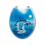 Sq Professional TOILET SEAT JUMPING DOLPHINS